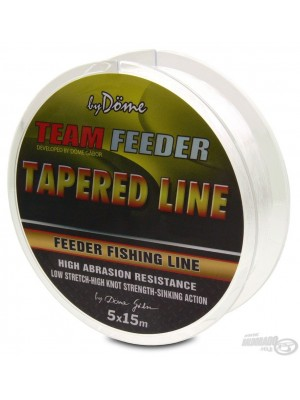 By Döme Team Feeder Tapered Line 5x15 m 0.165-0.220 mm