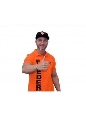 Feeder Mania 3D Tričko s golierom Orange-Black L